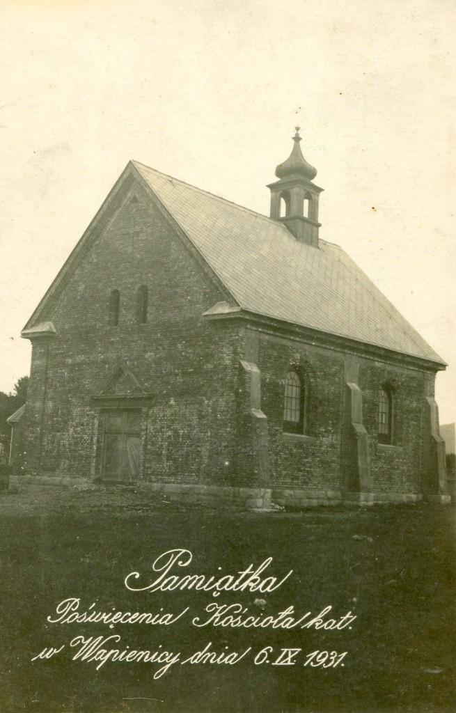 Kościółek w dniu poświęcenia