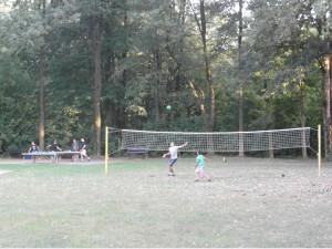 Siatka do gry w siatkówkę na Manhatanie