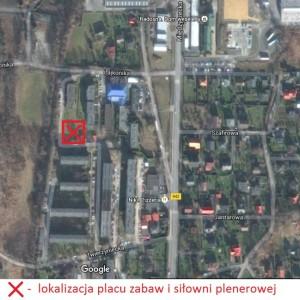 lokalizacja placu zabaw ul. Lajkonika