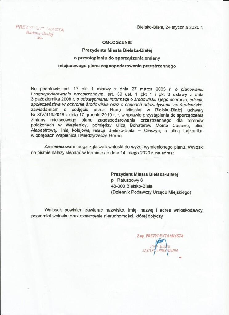 Pismo miejscowy Plan Lajkonika