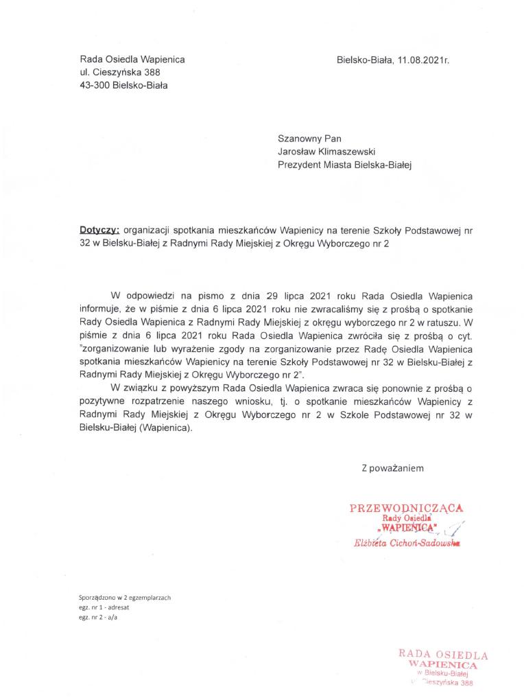 pismo RO spotkanie z RRM odp na pismo JK